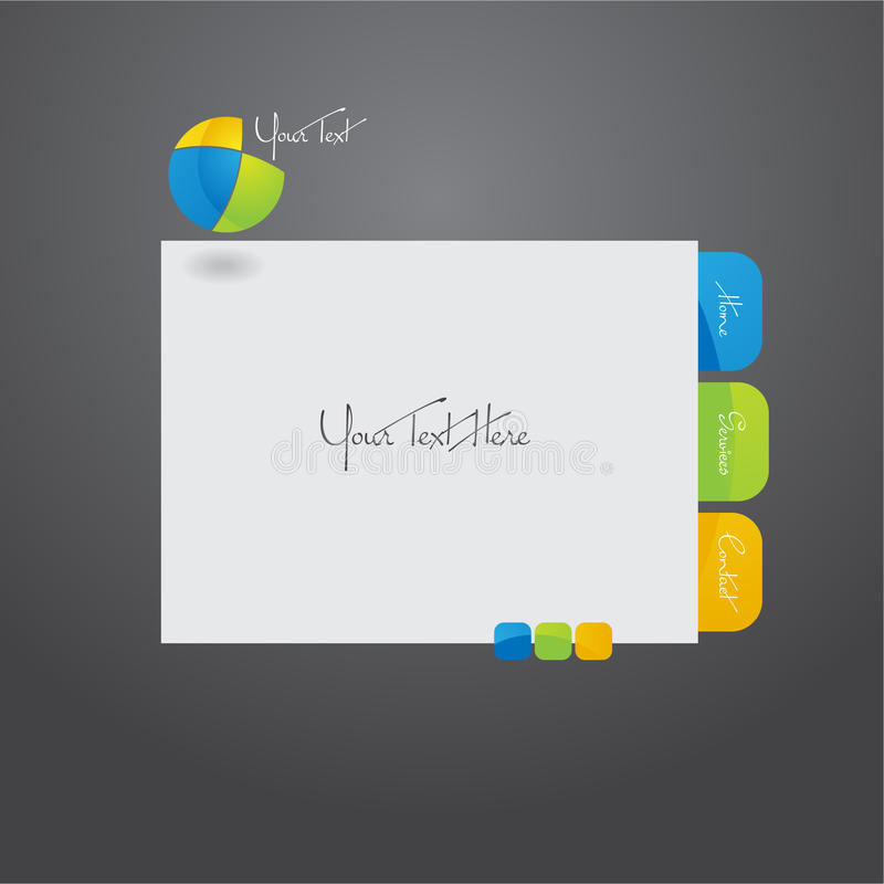 Website template design. royalty free stock image
