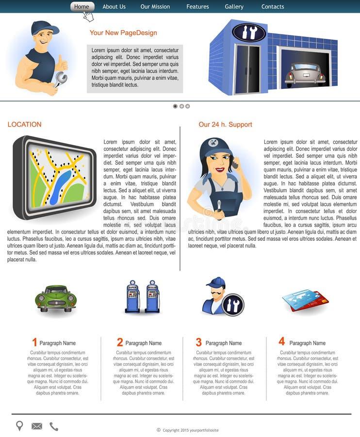 Website template 85 vector illustration