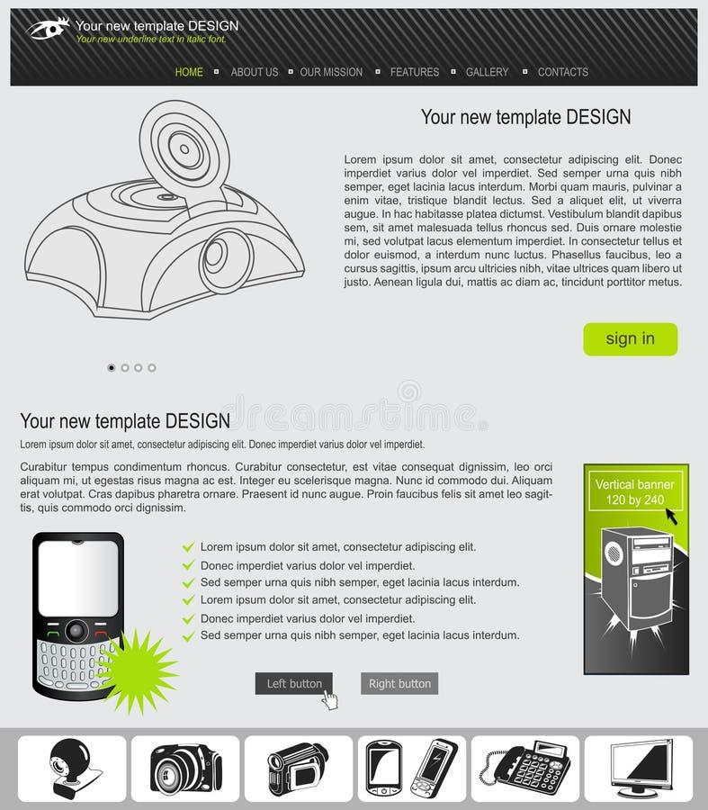 Download Website template 22 stock vector. Illustration of gallery - 39830643