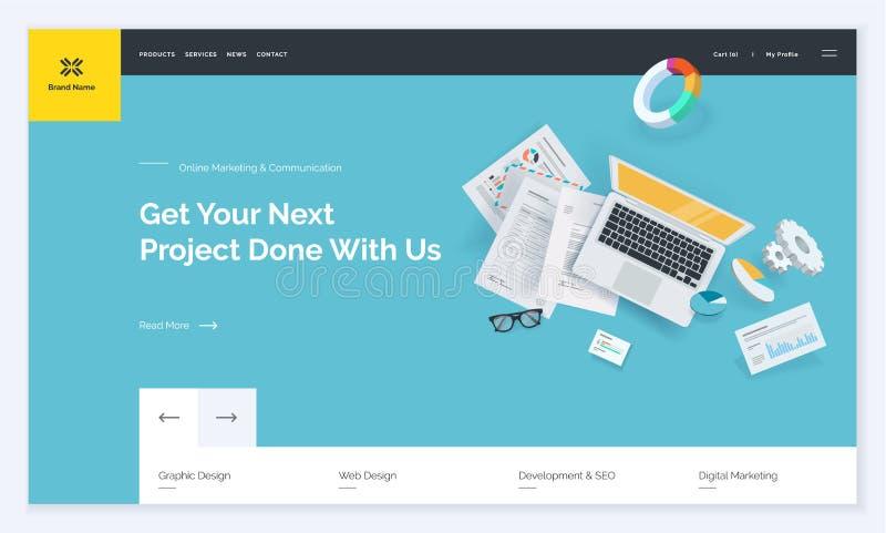 Website template design stock vector. Illustration of frame - 113594698