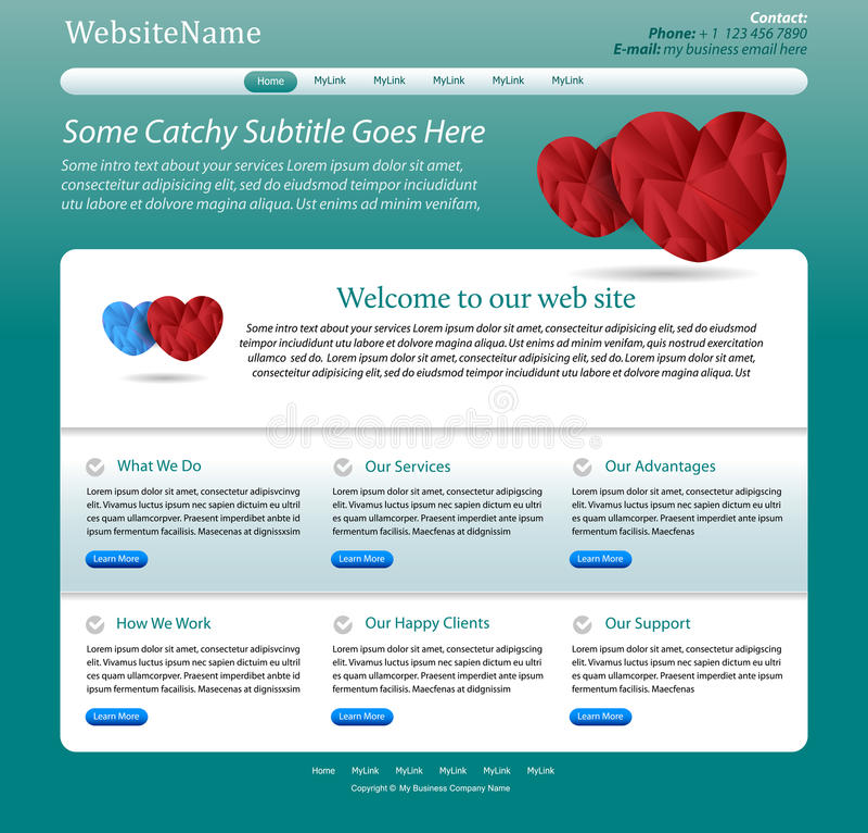 Website template for medicine vector illustration