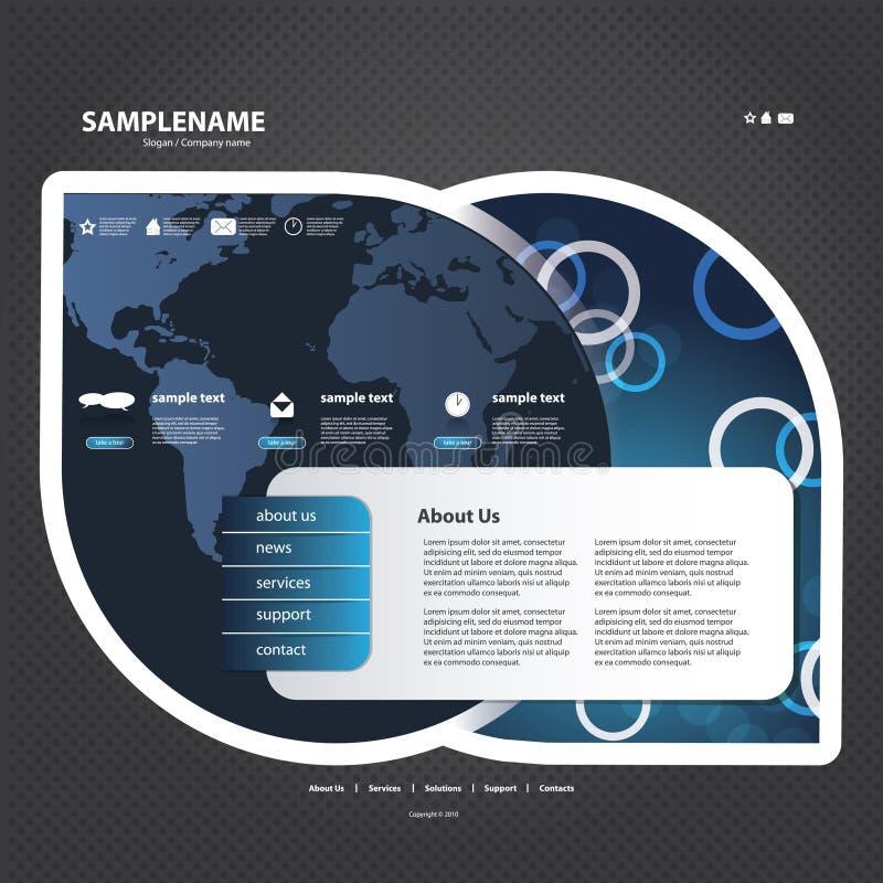Map Design Website Template: Website Template Stock Vector. Illustration Of Arrow