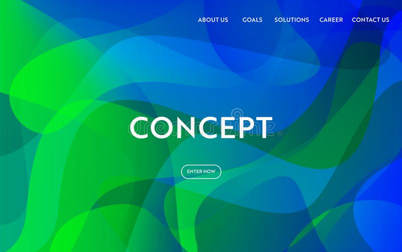 Website Template Modern flat Design. Web Page Layout Landing Page Concept, Mobile App, Web Banner royalty free illustration