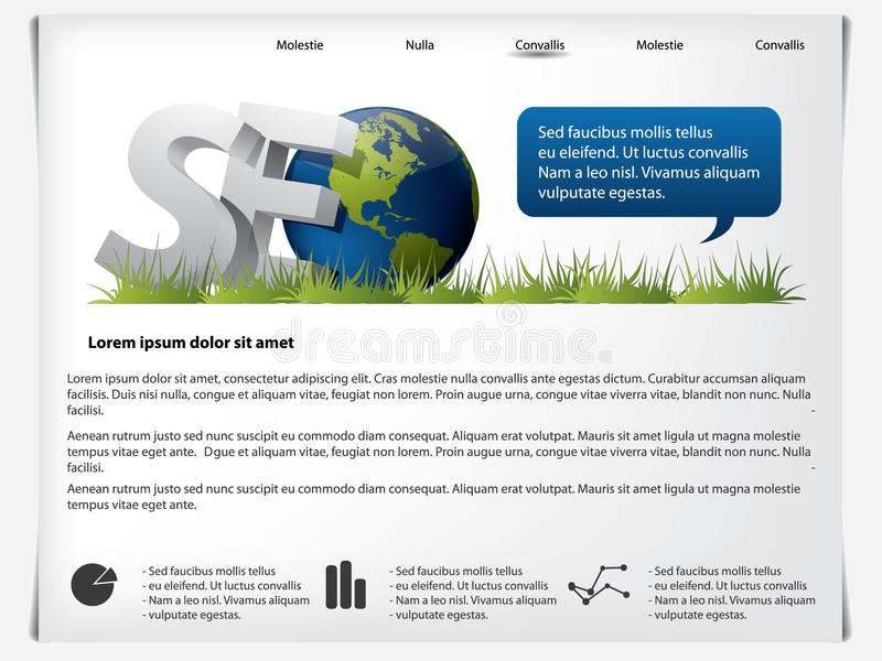 Website template SEO stock vector. Illustration of free - 15555553