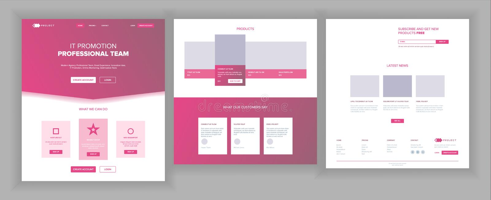 Website Template Vector. Page Business Interface. Landing Web Page. Responsive Ux Design. Opportunity Form. People. Website Template Vector. Page Business royalty free illustration