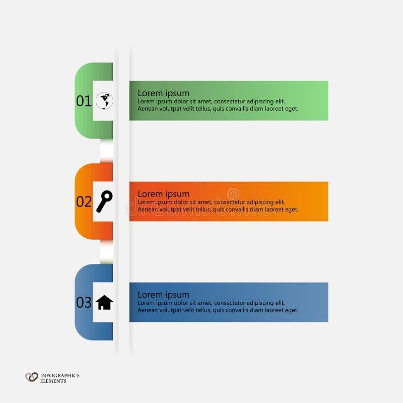 Website templates. Trendy design template for infographics, website templates stock illustration
