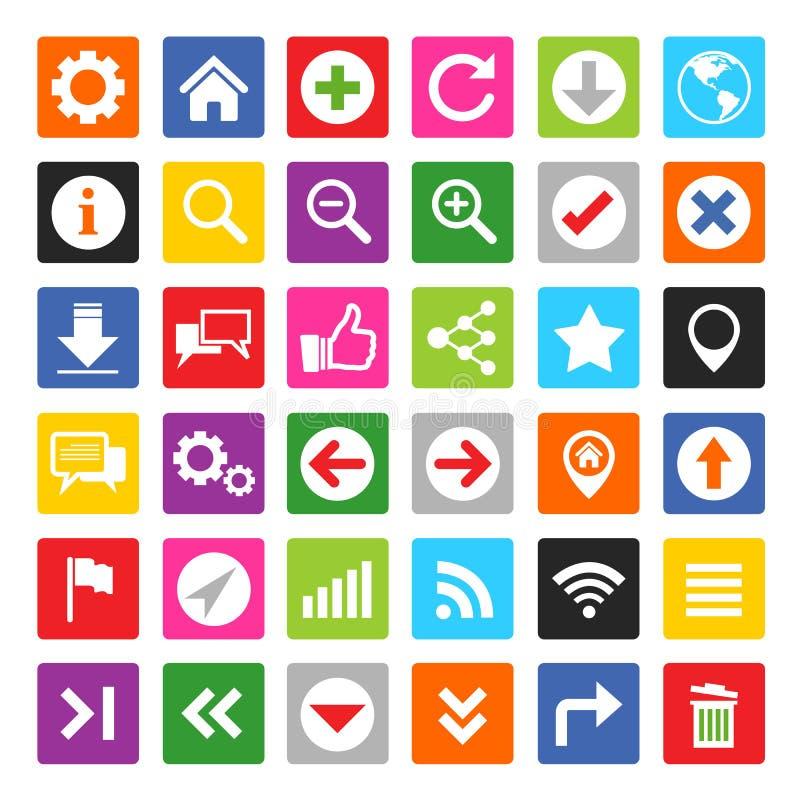 Website- und Internet-Ikonensatz lizenzfreie abbildung