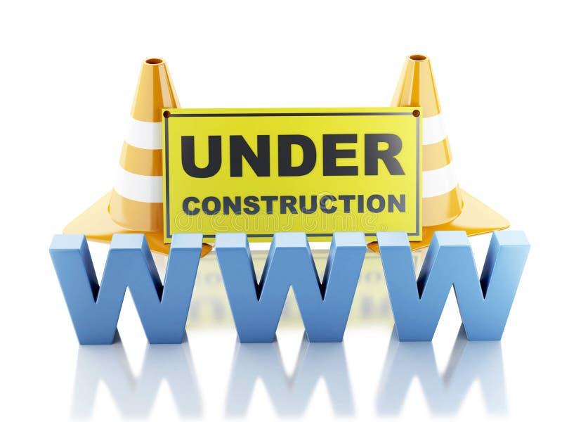 Website under construction concept. 3d illustration vector illustration