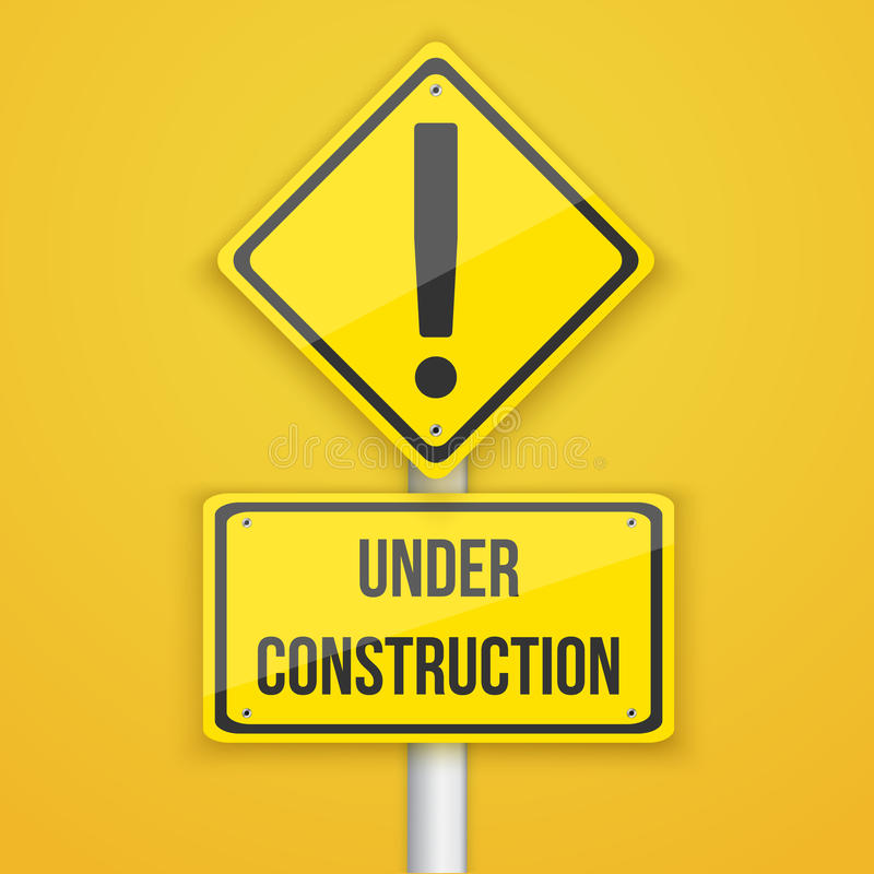 Website Under Construction Road Sign. Coming Soon Background Tem. Illustration of Website Under Construction Road Sign. Coming Soon Background Template stock illustration