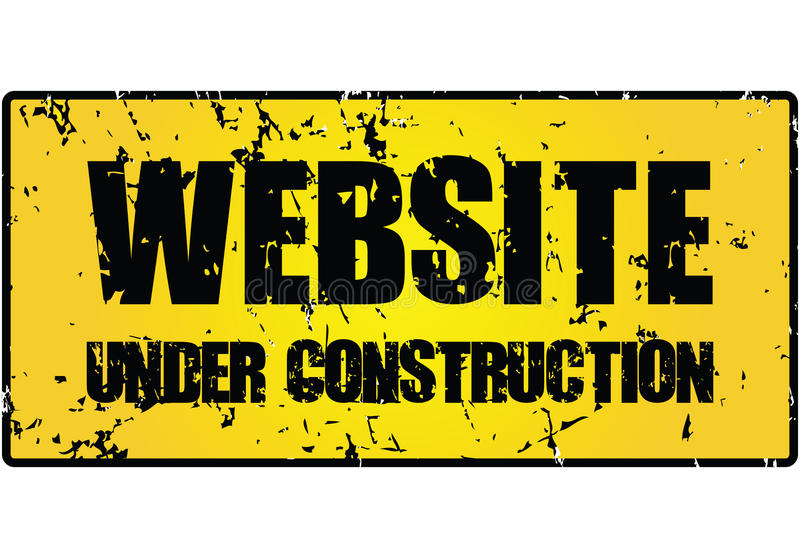 Website under construction sign. ( illustration royalty free illustration