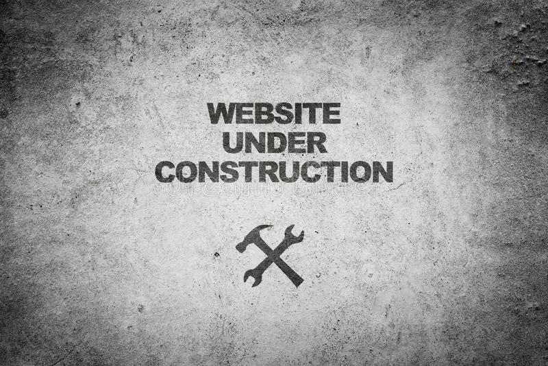 Website under construction stock photography