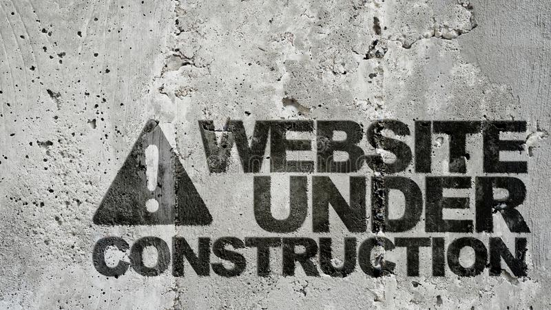 Website under konstruktion! arkivbild