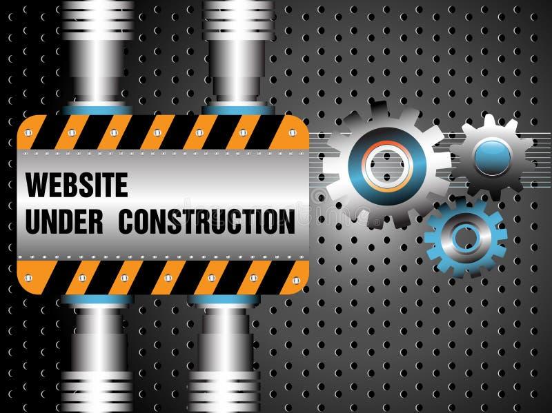 Website under konstruktion royaltyfri illustrationer
