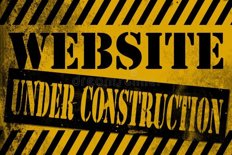 Website under konstruktionsteckenguling med band royaltyfri illustrationer