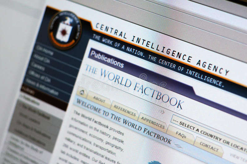 Website van de CIA - hoofdInternet pagina royalty-vrije stock fotografie