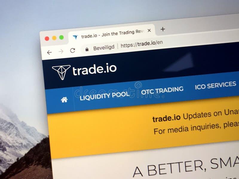Website van handel Io stock foto's