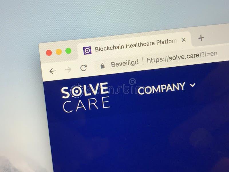 Website van Solve zorg stock foto's