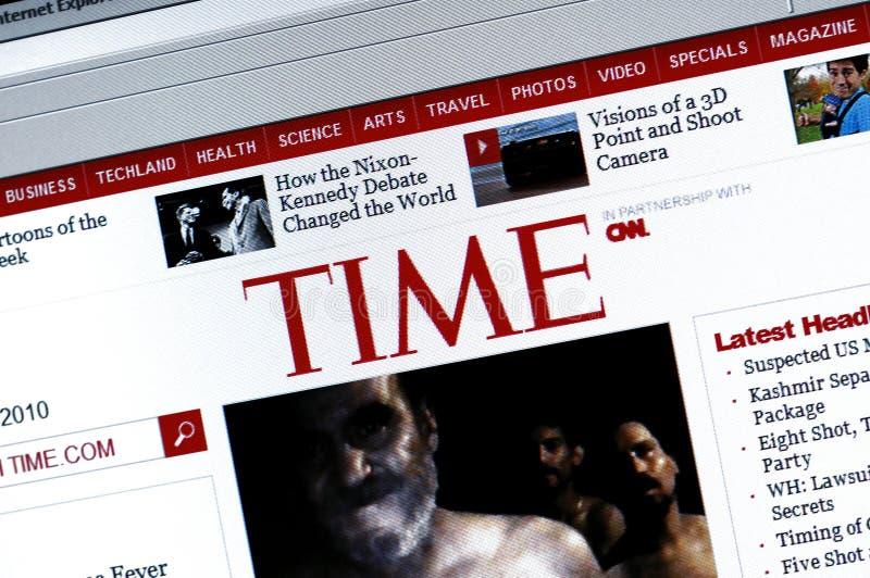 Website van TIME.com royalty-vrije stock foto's