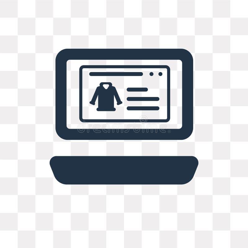Website vectordiepictogram op transparante achtergrond, Website wordt geïsoleerd stock illustratie
