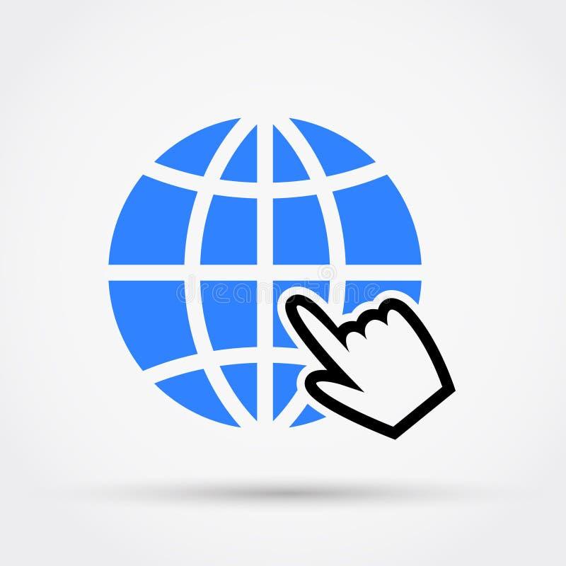 Website vectorpictogram Vlak Ontwerp royalty-vrije illustratie