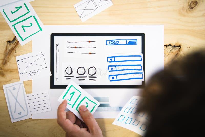 Website wireframe Design stockbild