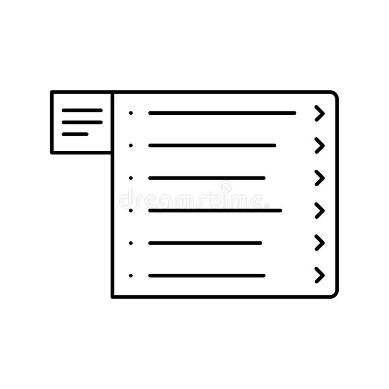 Website wireframe. Menu line icon. Web page user interface stock illustration