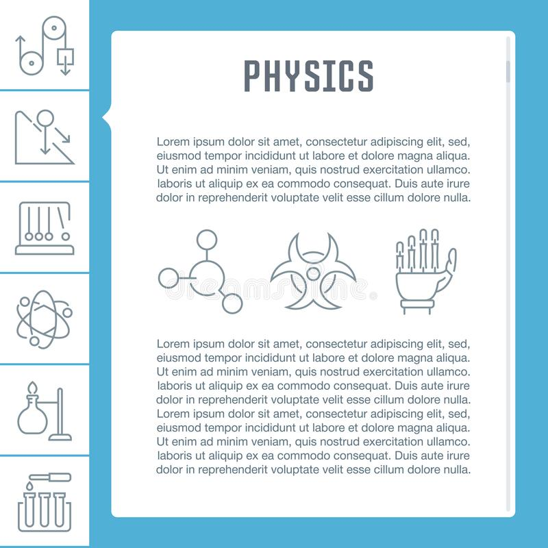 Download Websitebanner En Landende Pagina Van Fysica Stock Illustratie - Illustratie bestaande uit molecule, energie: 114225045