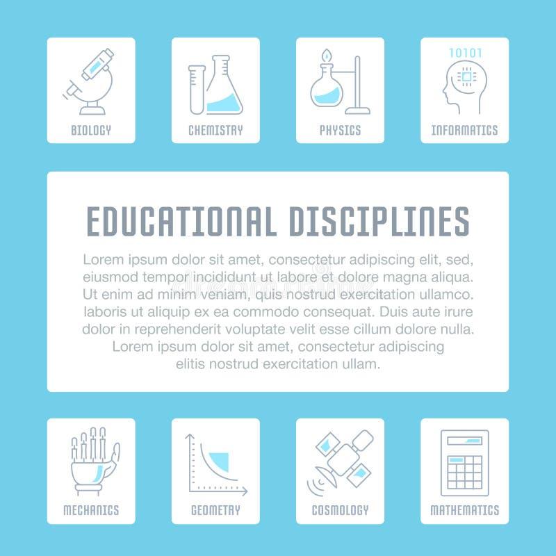 Download Websitebanner En Landende Pagina Van Onderwijsdisciplines Stock Illustratie - Illustratie bestaande uit wetenschap, onderzoek: 114225586