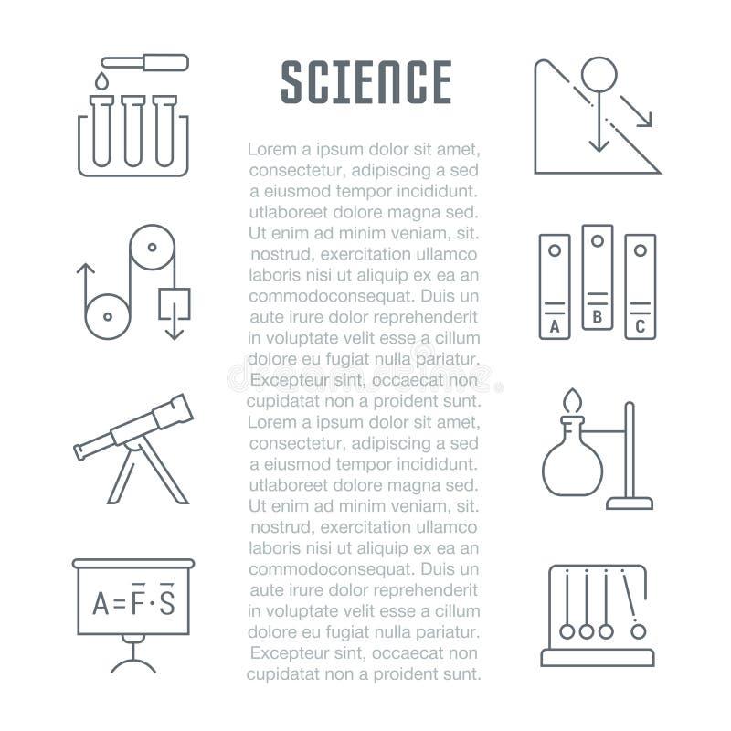 Download Websitebanner En Landende Pagina Van Wetenschap Stock Illustratie - Illustratie bestaande uit pagina, school: 114225718