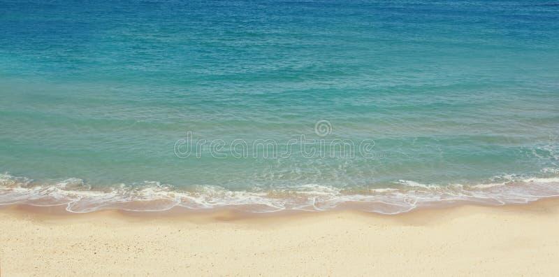 Websitebanner van het strand en het ontwerp van de de overzeese landschap royalty-vrije stock foto's