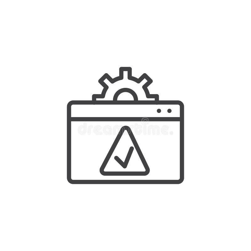 Websiteeinstellung nehmen Entwurfsikone an lizenzfreie abbildung