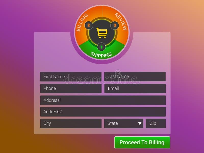 Websiteform lizenzfreies stockfoto