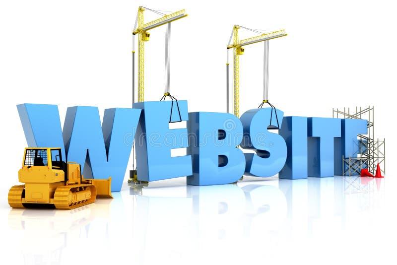 Websitegebäude, im Bau oder Reparatur vektor abbildung
