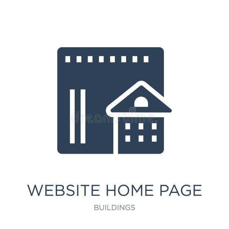 Websitehomepageikone in der modischen Entwurfsart Websitehomepageikone lokalisiert auf weißem Hintergrund Websitehomepage-Vektori vektor abbildung