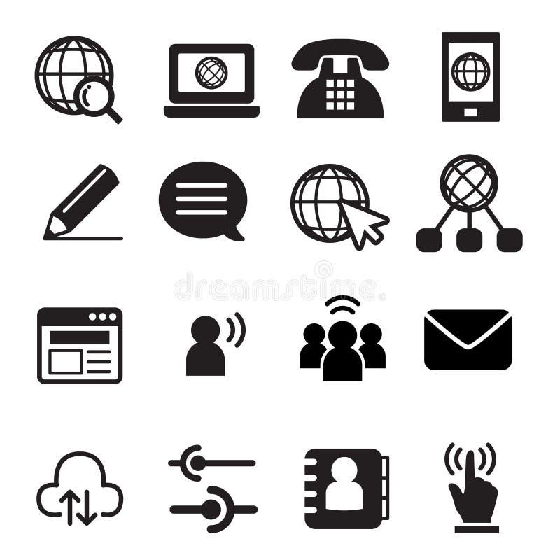 Websitekommunikationssymbol vektor illustrationer