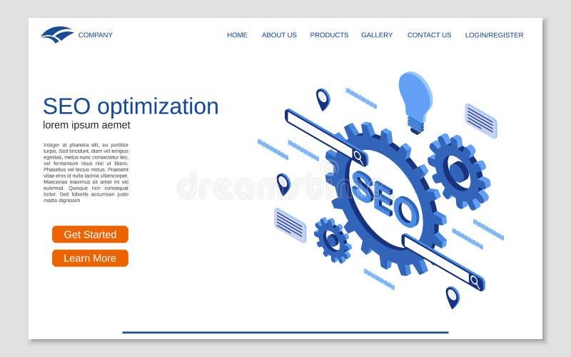 Websitelandungsseitenvektor-Designschablone lizenzfreie abbildung