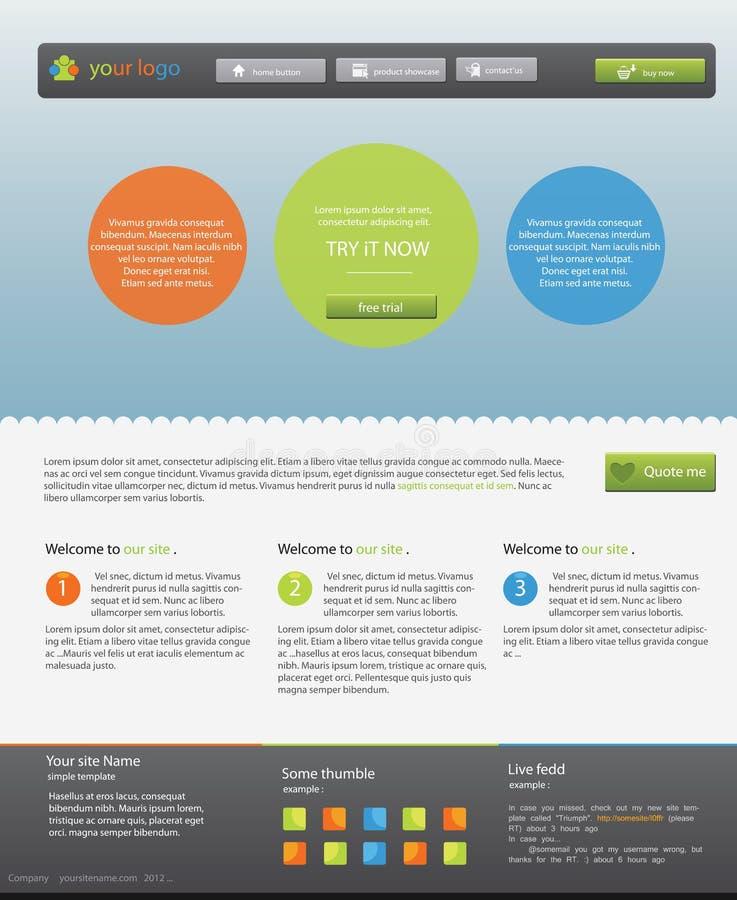Websitemall vektor illustrationer