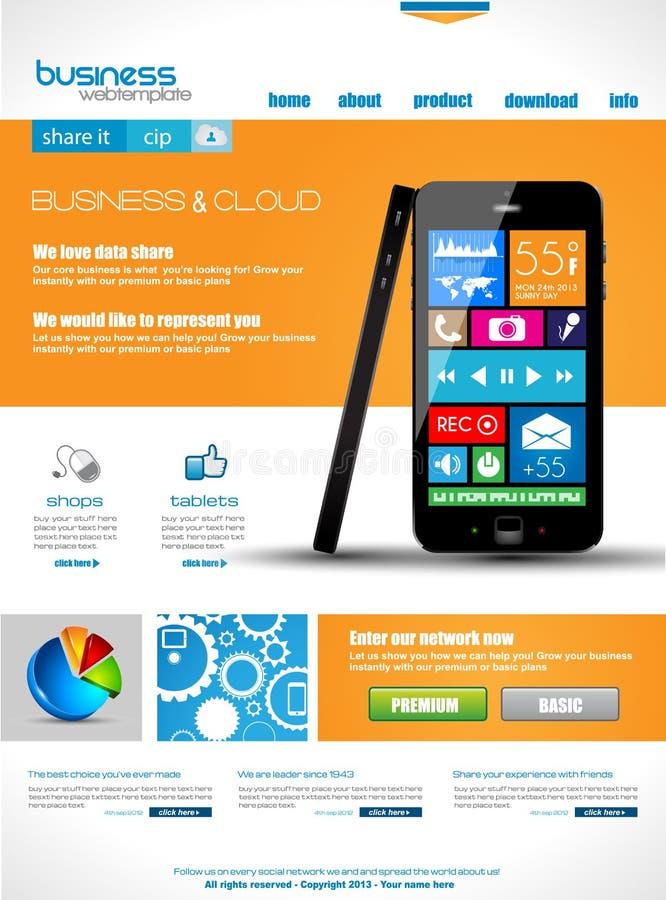 Websitemall för avsikter för företags affär och moln. vektor illustrationer