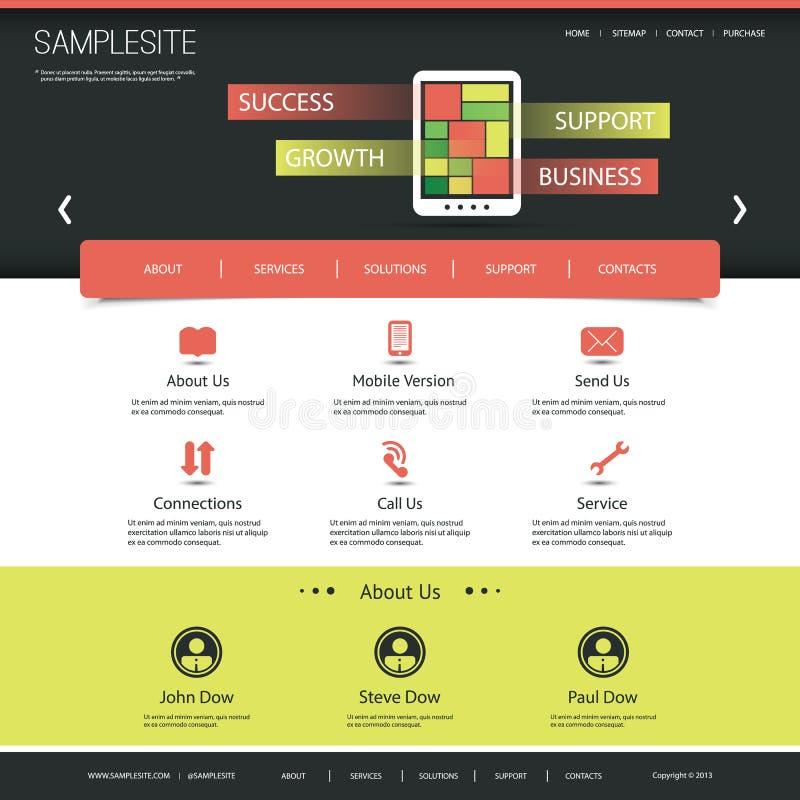 Websitemall för din affär eller blogg royaltyfri illustrationer