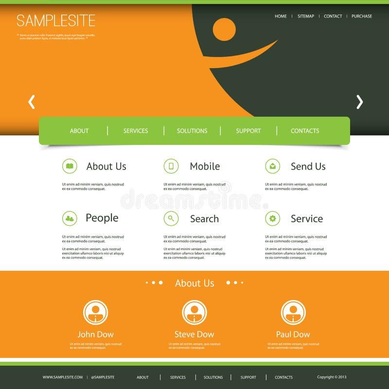 Websitemall med abstrakta Smiley Header Design vektor illustrationer