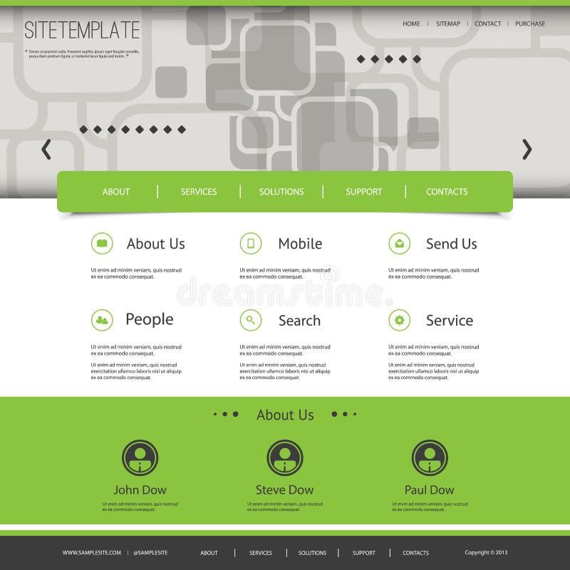 Websitemall med den abstrakta titelraddesignen - fyrkantmodell stock illustrationer