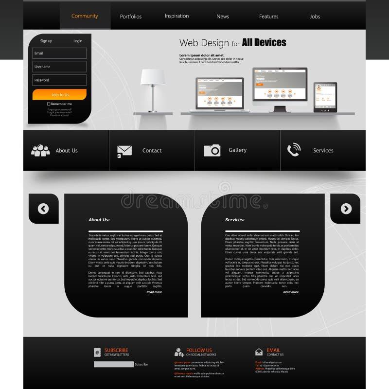 Websitemalldesign EPS 10 royaltyfri illustrationer
