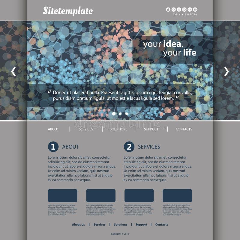 Websitemallen med färgrikt abstrakt begrepp knyter kontakt H stock illustrationer