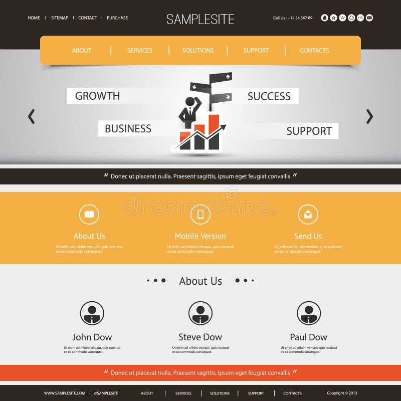 Websitemalplaatje voor Uw Zaken of Blog royalty-vrije illustratie