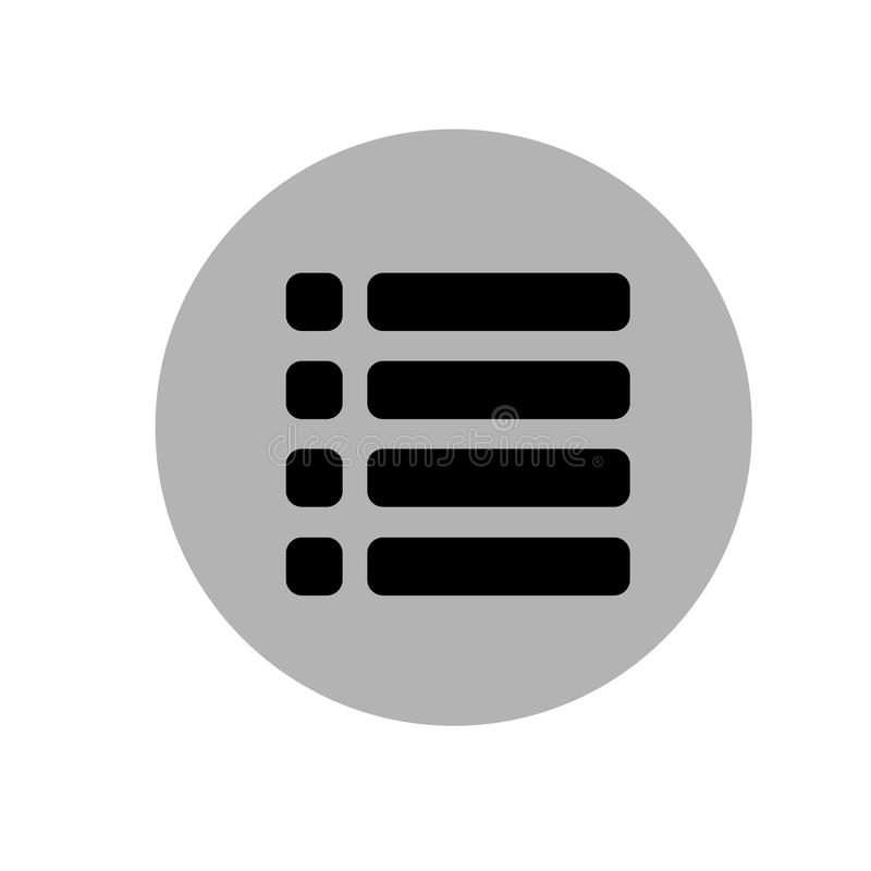 Websitemenüikone Flache Art Auch im corel abgehobenen Betrag Schwarze und graue Ikone lizenzfreie abbildung