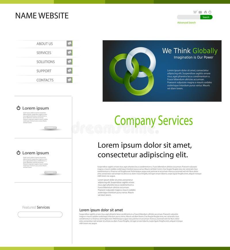 Websiteontwerp vector illustratie