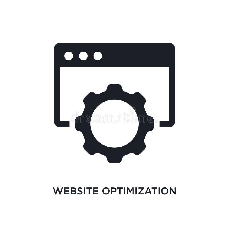 websiteoptimalisering geïsoleerd pictogram eenvoudige elementenillustratie van de pictogrammen van het technologieconcept het edi royalty-vrije illustratie