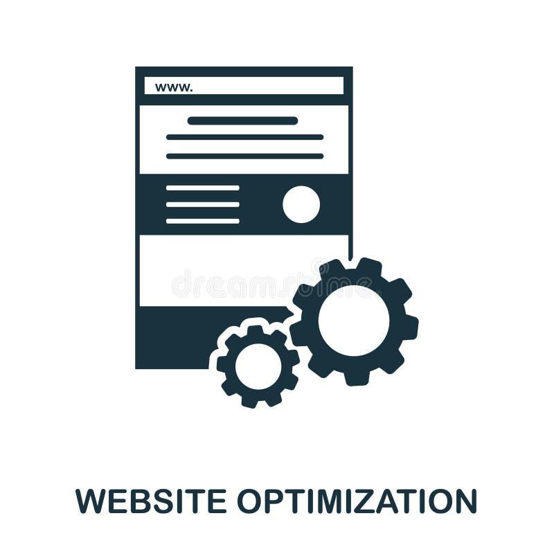 WebsiteOptimizationsymbol Linje stilsymbolsdesign Ui Illustration av websiteoptimizationsymbolen Pictogram som isoleras på royaltyfri illustrationer