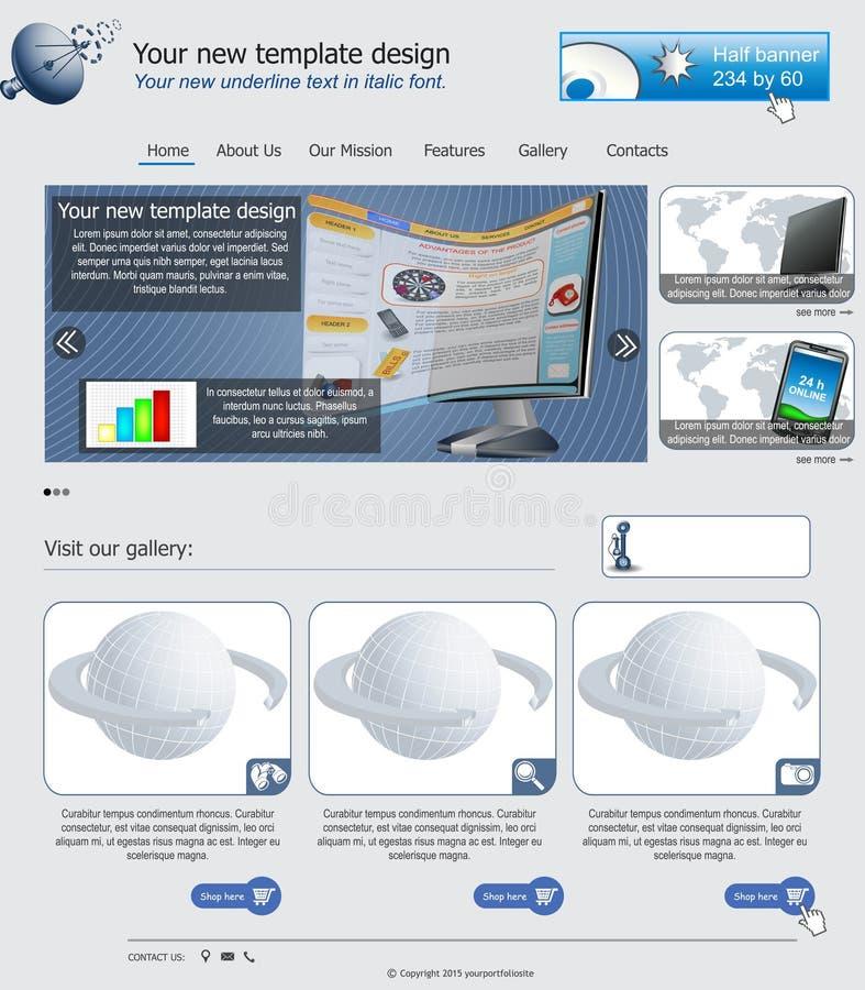 Websiteschablone 25 lizenzfreie abbildung