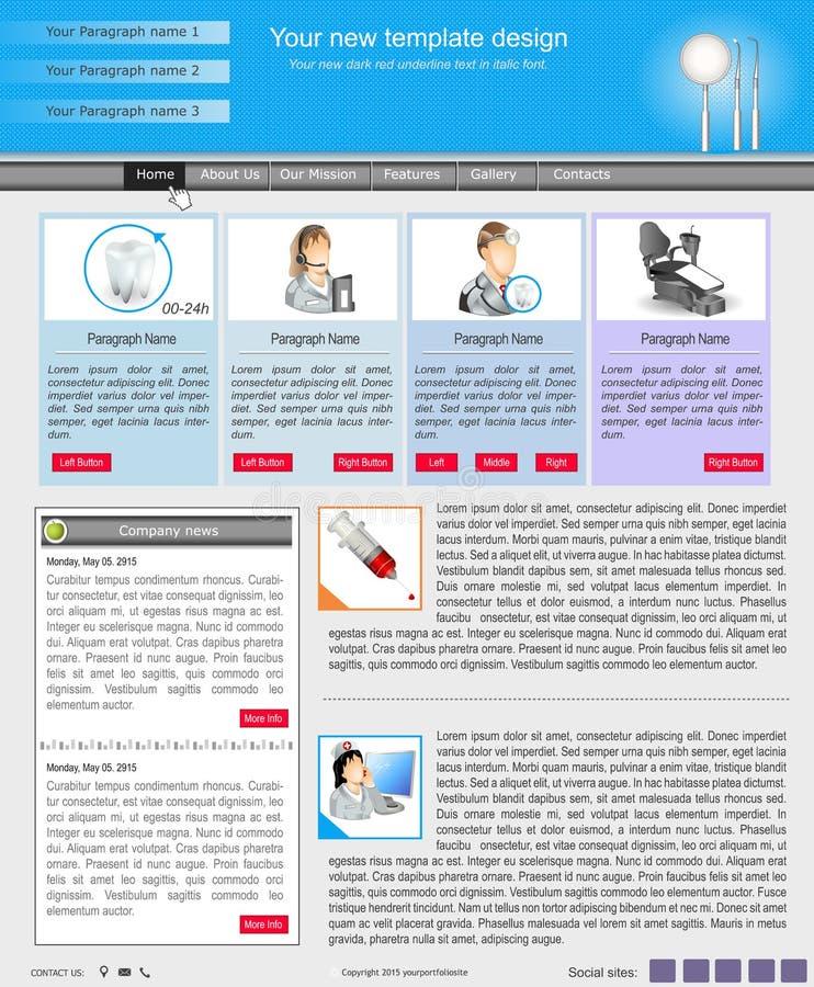 Websiteschablone 44 lizenzfreie abbildung